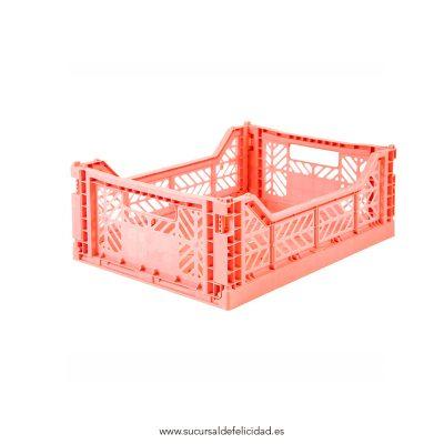Caja Lillemor Plegable Mediana Coral