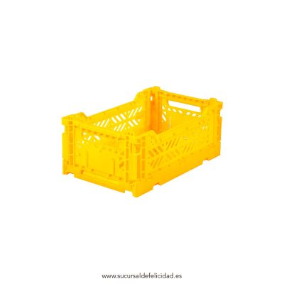 Caja Lillemor Plegable Mini Amarilla