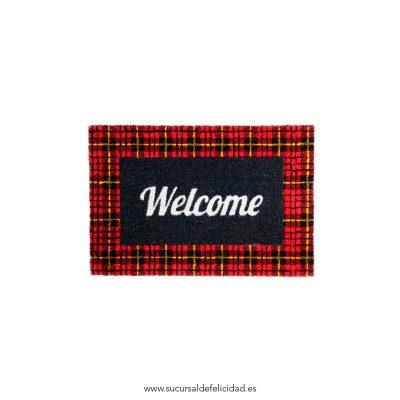 Felpudo Welcome Cuadros Escoceses