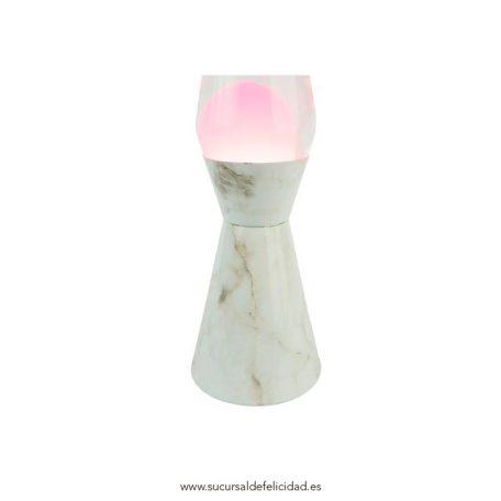 Lámpara-de-lava-rosa-y-Mármol-1