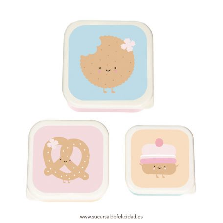 Set 3 Tuppers Cookie