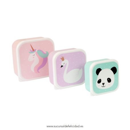 Set Tuppers Unicornio & Friends