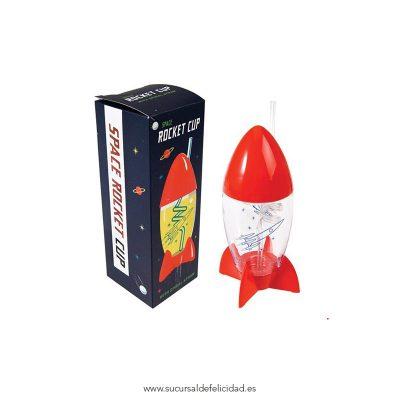 Vaso con Pajita Cohete Espacial