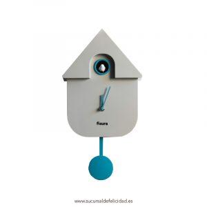 Reloj Pared Cuckoo Gris y Azul