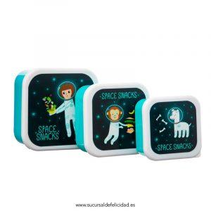 Set 3 Tuppers Astronautas