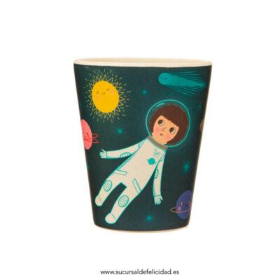 Vajilla Infantil Bambú Astronautas