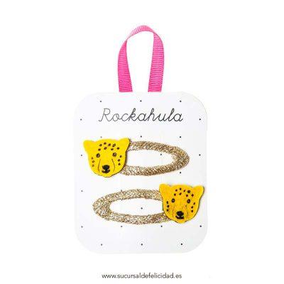 Set Horquillas Leopardo