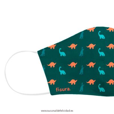 Mascarilla Adulto Tela Dinosaurios