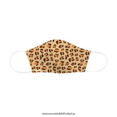Mascarilla Adulto Tela Leopardo