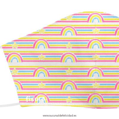 Mascarilla Infantil Tela Arcoíris