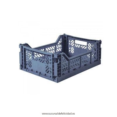 Caja Lillemor Plegable Mediana Azul Cobalto