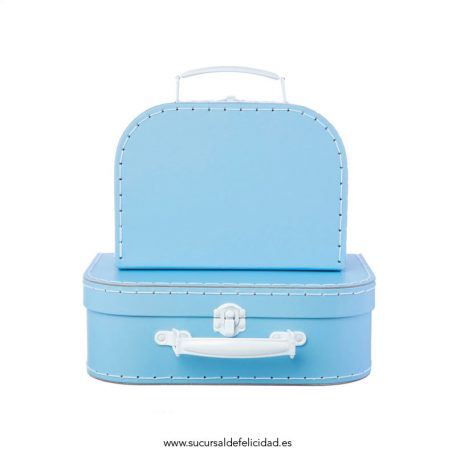 Set 2 Maletas Azul Pastel