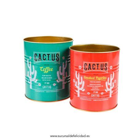 Set Latas Almacenaje Cactus