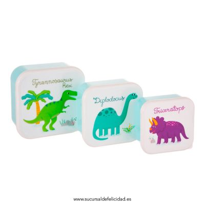 Set Tuppers Dinosaurios