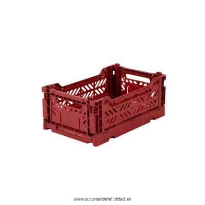 Caja Lillemor Plegable Mini Rojo Tilo