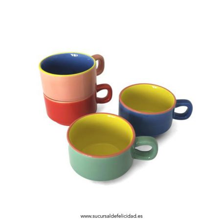 Set tazas cafe - Colorful