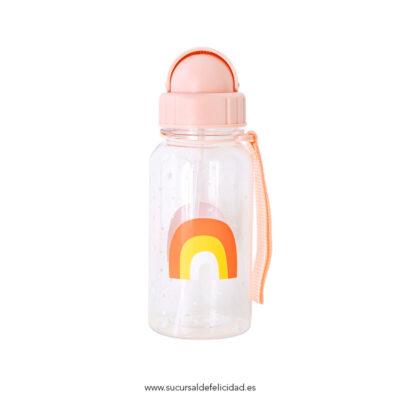 Botella Infantil Arcoíris Pajita