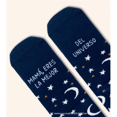 """Calcetines """"Mamá, eres la mejor del universo"""" Lunas"""