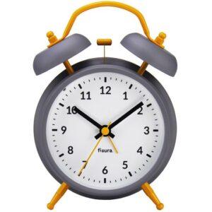 Reloj despertador Retro Gris y Amarillo