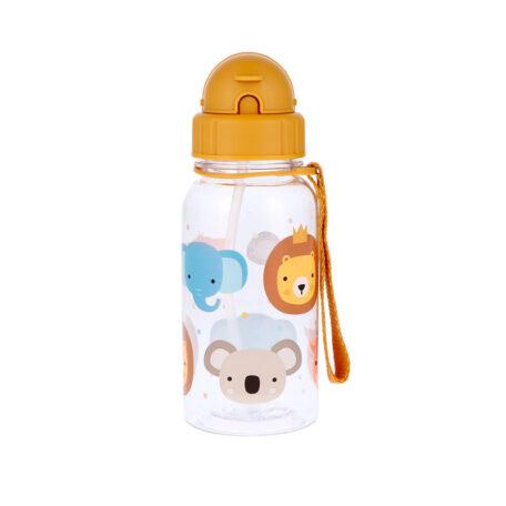 Botella Infantil Animal Friends Pajita