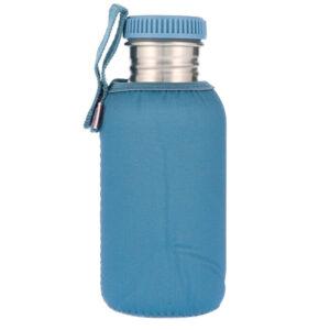 Botella Acero con Funda Azul Niágara 500ml