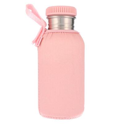 Botella Acero con Funda Rosa 500ml