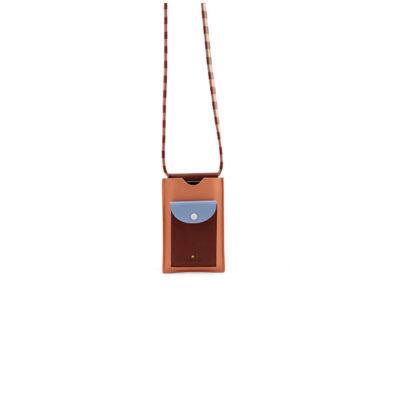 Bolso para móvil rojo cereza + azul soleado + rosa