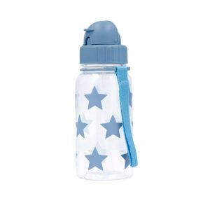 Botella Infantil Estrellas Azules Pajita
