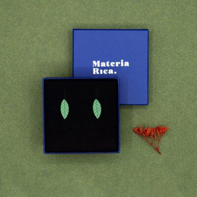 Pendientes Green Leaf