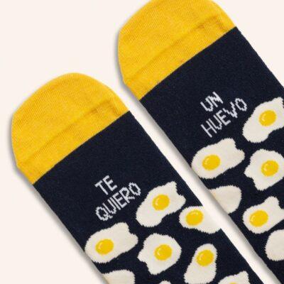 """Calcetines """"Te quiero un huevo"""" Blue"""